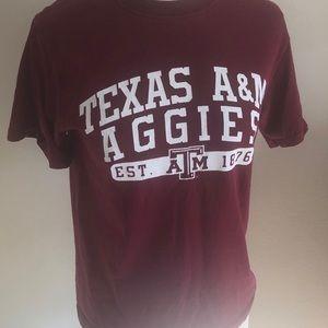 Texas A&M short sleeve tee. Size S